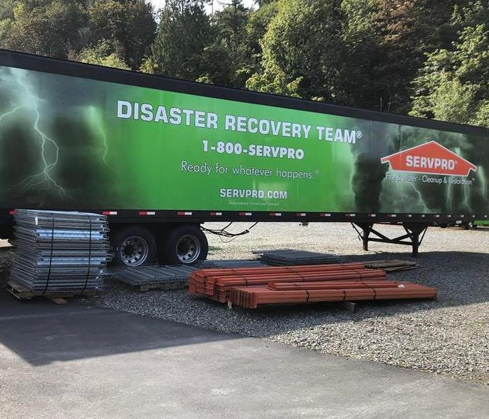 Disaster Recovery Team in Puyallap WA. Truck is equipped for 60 employees for 2 weeks of work.